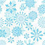 Seamless snowflakes background for winter and christmas theme Stock Photo - Royalty-Free, Artist: angelp                        , Code: 400-04745141