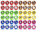 Colorful basic web icons Stock Photo - Royalty-Free, Artist: Pitris                        , Code: 400-04746545