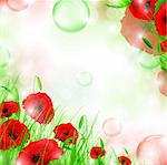 nature floral air background with bubbles Stock Photo - Royalty-Free, Artist: SNR                           , Code: 400-04748320