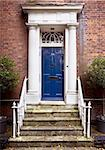 Period front door and grand entrance in a brick facade Stock Photo - Royalty-Free, Artist: nixoncreative                 , Code: 400-04748966