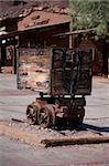 Historic mining cart in old ghost town Stock Photo - Royalty-Free, Artist: CHR1                          , Code: 400-04750031