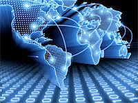 World Map interconnected by wire (Fiber Optics) of the information. Concept of global information and technology of communication. Stock Photo - Royalty-Freenull, Code: 400-04750158
