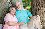 Happy senior couple in love, relaxing outdoors Stock Photo - Royalty-Free, Artist: lisafx                        , Code: 400-04750171