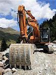 Excavator - Road Construction Stock Photo - Royalty-Free, Artist: jorisvo                       , Code: 400-04753552