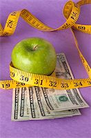 education loan - An apple, tape measure, and American currency represents the concept of measuring the cost of healthcare, food, or education.  Can also work for concept of the cost of healthcare, education or food. Stock Photo - Royalty-Freenull, Code: 400-04758608