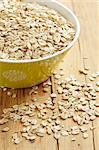 photo shot of oatmeal on wooden table Stock Photo - Royalty-Free, Artist: jirkaejc                      , Code: 400-04760796