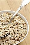 photo shot of oatmeal on wooden table Stock Photo - Royalty-Free, Artist: jirkaejc                      , Code: 400-04760797