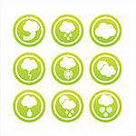 set of 9 green weather signs Stock Photo - Royalty-Free, Artist: LxIsabelle                    , Code: 400-04762050