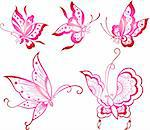 butterfly icon design Stock Photo - Royalty-Free, Artist: pauljune                      , Code: 400-04762631
