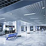 scene of the subway station, hall of the modern building. Stock Photo - Royalty-Free, Artist: csguy                         , Code: 400-04763385