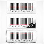 illustration of barcode with rays on white background Stock Photo - Royalty-Free, Artist: get4net                       , Code: 400-04764089