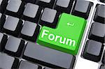 forum button shows concept for internet rss communication Stock Photo - Royalty-Free, Artist: gunnar3000                    , Code: 400-04764829