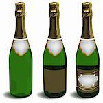 The bottle of champagne. Illustration in vector format EPS. Stock Photo - Royalty-Free, Artist: orensila                      , Code: 400-04765052