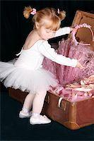 Little ballet toddler wearing a white tutu   Stock Photo - Royalty-Freenull, Code: 400-04765991