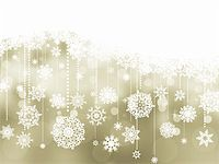 snowflakes  holiday - Elegant christmas background with baubles. EPS 8 vector file included Stock Photo - Royalty-Freenull, Code: 400-04766562