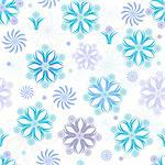 Seamless white christmas wallpaper with blue and violet snowflakes (vector) Stock Photo - Royalty-Free, Artist: OlgaDrozd                     , Code: 400-04766953