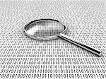 Figures of a binary code, are considered under a lens Stock Photo - Royalty-Free, Artist: Lomachevsky                   , Code: 400-04767673