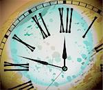 Illustration of Vintage Distressed Clock Surface Macro Stock Photo - Royalty-Free, Artist: DavidArts                     , Code: 400-04768581