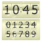 Set of numbers for use as a clock or counter Stock Photo - Royalty-Free, Artist: christopherhall               , Code: 400-04769227