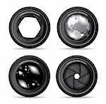 Vector illustration of camera lens on white Stock Photo - Royalty-Free, Artist: sermax55                      , Code: 400-04770691