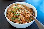 A bowl of delicious oriental fried rice Stock Photo - Royalty-Free, Artist: szefei                        , Code: 400-04771538