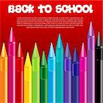 illustration of back to school with crayons Stock Photo - Royalty-Free, Artist: get4net                       , Code: 400-04773104