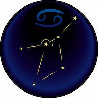 Cancer constellation plus the Cancer astrological sign Stock Photo - Royalty-Freenull, Code: 400-04773279