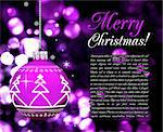 Background with Christmas balls, illustration on black Stock Photo - Royalty-Free, Artist: sermax55                      , Code: 400-04777827