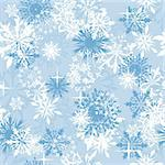 Seamless snowflakes background for winter and christmas theme Stock Photo - Royalty-Free, Artist: angelp                        , Code: 400-04778851