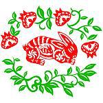 Chinese style of paper cut for year of the rabbit. Stock Photo - Royalty-Free, Artist: mylefthand                    , Code: 400-04784498