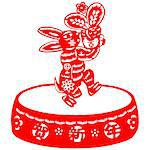 Chinese style of paper cut for year of the rabbit. Stock Photo - Royalty-Free, Artist: mylefthand                    , Code: 400-04784499
