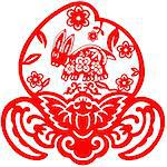 Chinese style of paper cut for year of the rabbit. Stock Photo - Royalty-Free, Artist: mylefthand                    , Code: 400-04784503