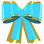 Blue bow gift. Illustration in vector format EPS Stock Photo - Royalty-Free, Artist: orensila                      , Code: 400-04785023