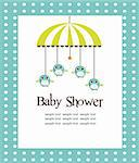 Baby shower card for boys vector illustration Stock Photo - Royalty-Free, Artist: kariiika                      , Code: 400-04785277