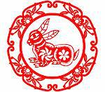 Chinese style of paper cut for year of the rabbit. Stock Photo - Royalty-Free, Artist: mylefthand                    , Code: 400-04785502