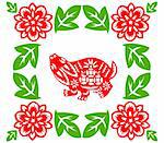 Chinese style of paper cut for year of the rabbit. Stock Photo - Royalty-Free, Artist: mylefthand                    , Code: 400-04785505