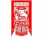 Chinese style of paper cut for year of the rabbit. Stock Photo - Royalty-Free, Artist: mylefthand                    , Code: 400-04785508