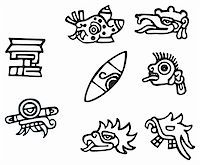 Mayan symbols, great artwork for tattoos, lots of Inca signs and symbol. Stock Photo - Royalty-Freenull, Code: 400-04788918