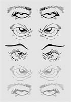 An image of a set of eyes. Stock Photo - Royalty-Freenull, Code: 400-04790618
