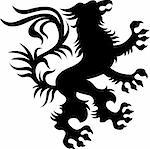 heraldic classic griffin design Stock Photo - Royalty-Free, Artist: pauljune                      , Code: 400-04792677
