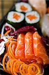 MIX SUSHI SASHIMI MAKI Stock Photo - Royalty-Free, Artist: davidev                       , Code: 400-04796673