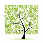 Art tree beautiful for your design Stock Photo - Royalty-Free, Artist: Kudryashka                    , Code: 400-04803017
