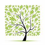 Art tree beautiful for your design Stock Photo - Royalty-Free, Artist: Kudryashka                    , Code: 400-04803018
