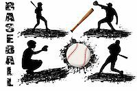 roxanabalint - Baseball player silhouettes on white background, vector illustration Stock Photo - Royalty-Freenull, Code: 400-04804039
