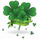 Background to St. Patrick's Day with clover and ribbon, element for design Stock Photo - Royalty-Free, Artist: svetap                        , Code: 400-04804551