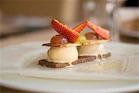 eating ice cream - Close up photo of yummy strawberry and ice-cream cake melting Stock Photo - Royalty-Freenull, Code: 400-04807034