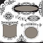 Vector set: wrought iron vintage signs and elements for design Stock Photo - Royalty-Free, Artist: Vell                          , Code: 400-04808778
