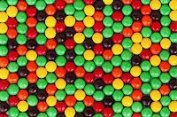 Background of colorful candies coated chocolate sweets Stock Photo - Royalty-Freenull, Code: 400-04809518