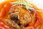 knuckle of veal baked with vegetables closeup Stock Photo - Royalty-Free, Artist: rusak                         , Code: 400-04810027