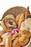 fresh healthy natural  bread food group in studio on table Stock Photo - Royalty-Free, Artist: dotshock                      , Code: 400-04811134